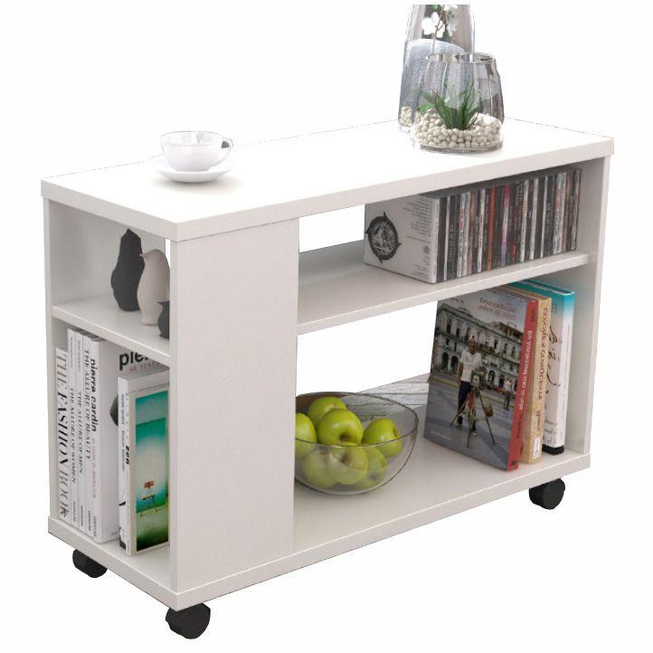 Príručný stolík, biela, ZOELA