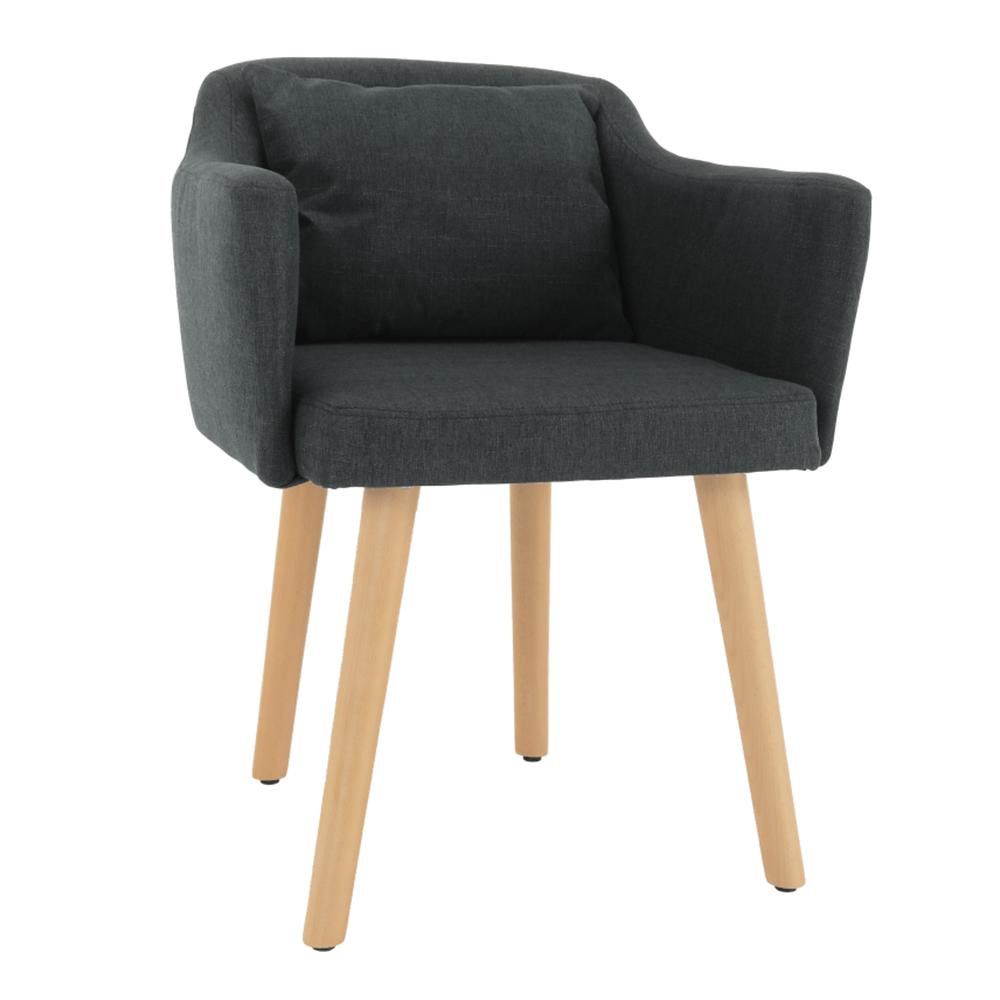 Dizajnové fotel, szürke anyag/fa, DIPSY
