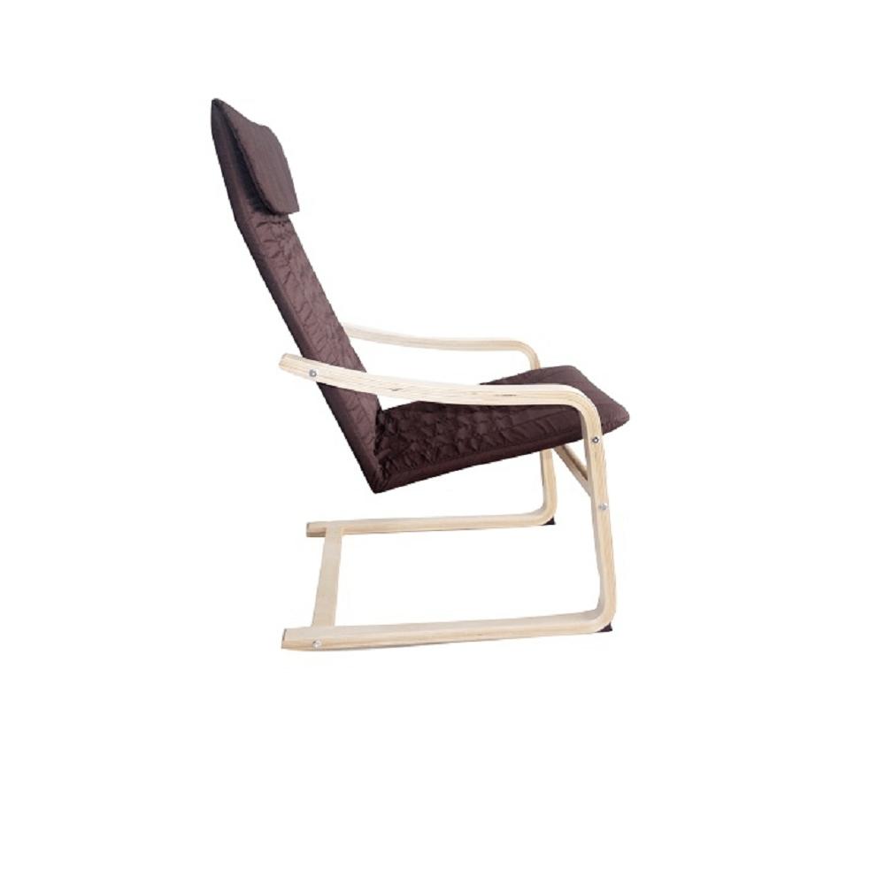 TORSTEN relaxációs szék, szín: barna / természetes fa