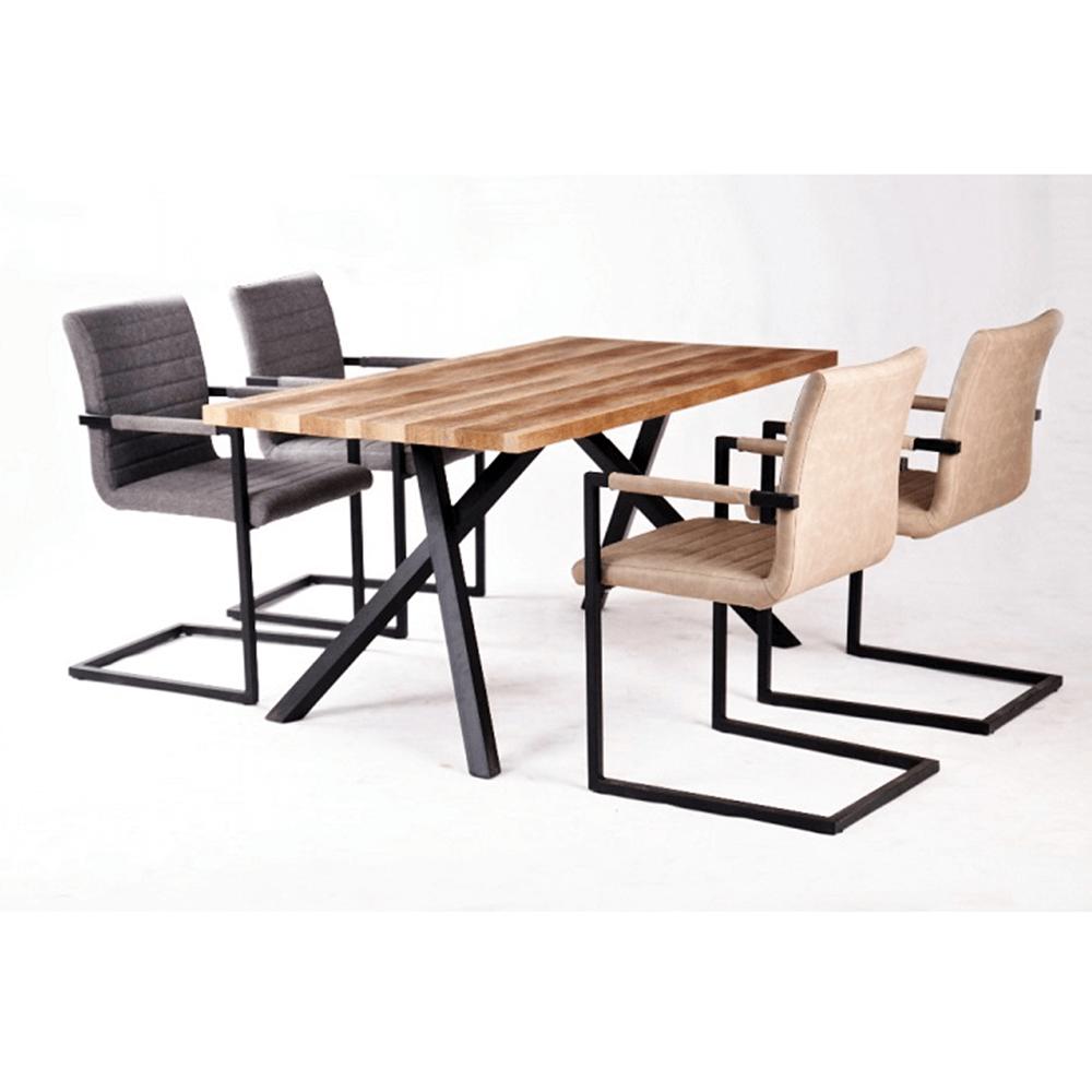 Étkezőasztal, világos szilva/fekete, GURDUN