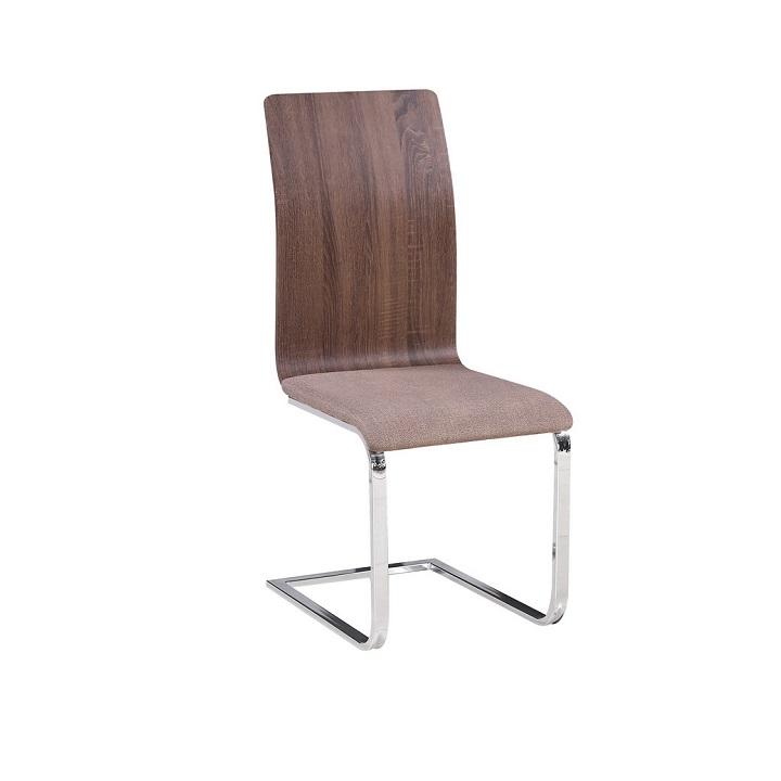 Jedálenská stolička, béžová látka/MDF hnedá, ODETA