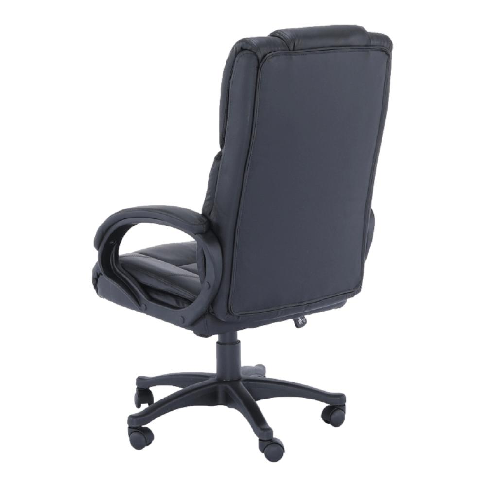 Irodai szék, fekete textilbőr/műanyag, SIEMO NEW