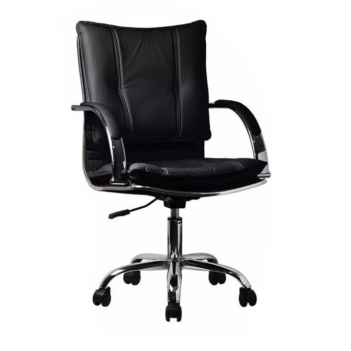 Kancelárske kreslo, ekokoža čierna, QUIRIN
