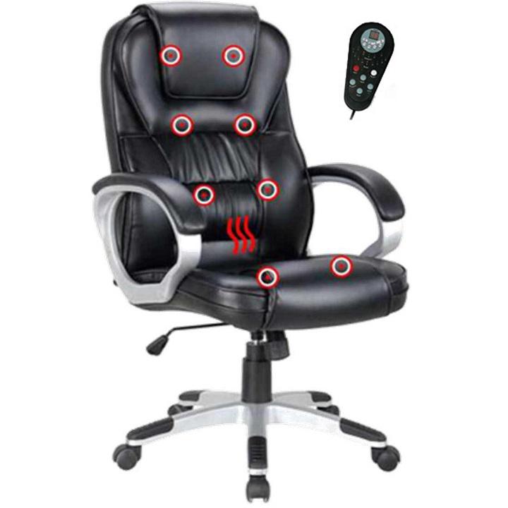 Irodai szék  fekete textilbőr/műanyag TYLER