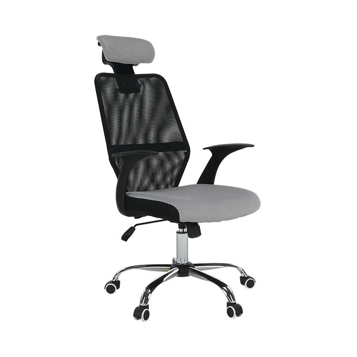 Kancelárske kreslo, čierna/sivá, REYES NEW, rozbalený tovar