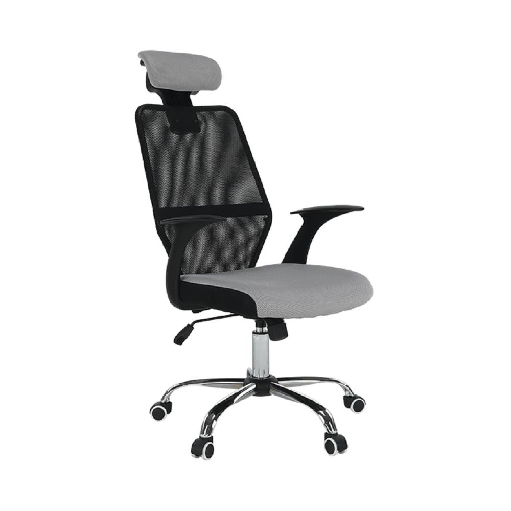 Kancelárske kreslo, čierna/sivá, REYES NEW - lacno