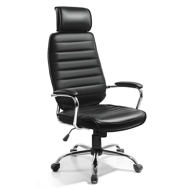 Kancelárske kreslo, čierna ekokoža, IZIDOR