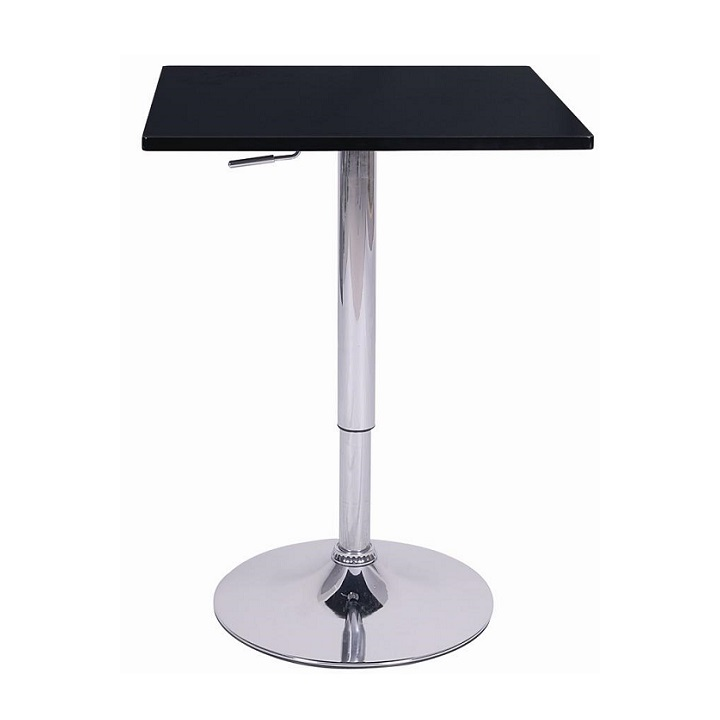 Tempo Kondela Barový stôl s nastaviteľnou výškou, čierna, FLORIAN