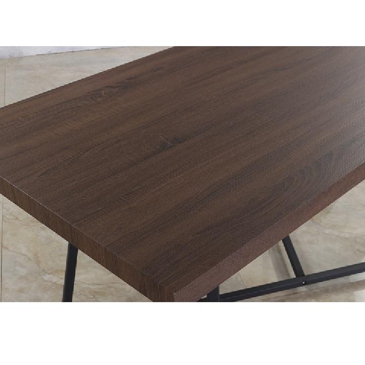 Jedálenský stôl, tmavý orech/čierna, SVARAN