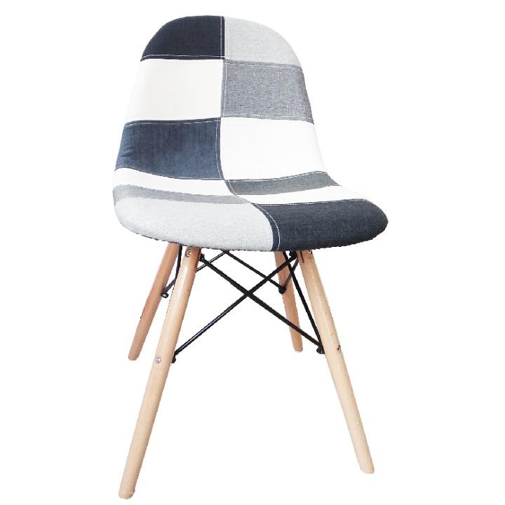 Jedálenská stolička, čierna/biela/sivá, CANDIE NEW TYP 3