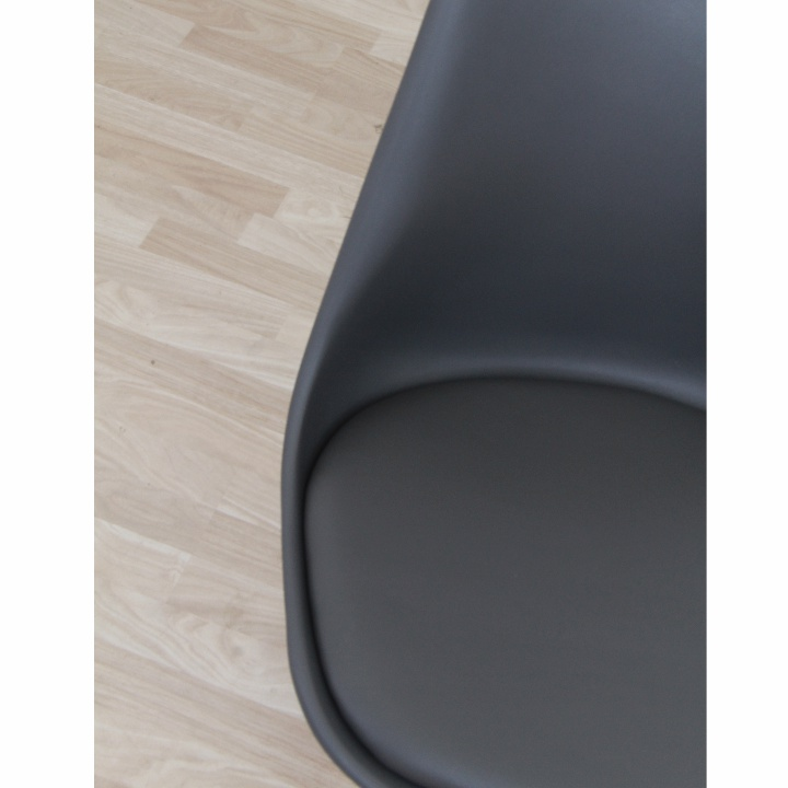 Stolička, tmavosivá/buk, KEMAL