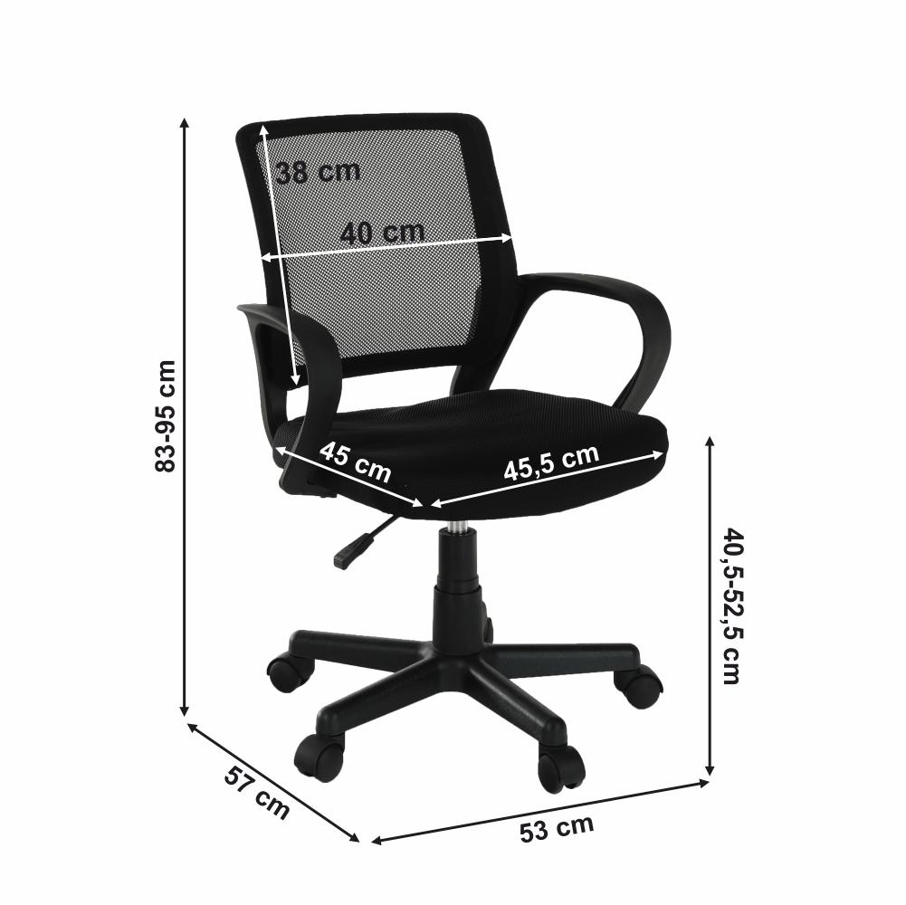 ADRA irodai szék, fekete