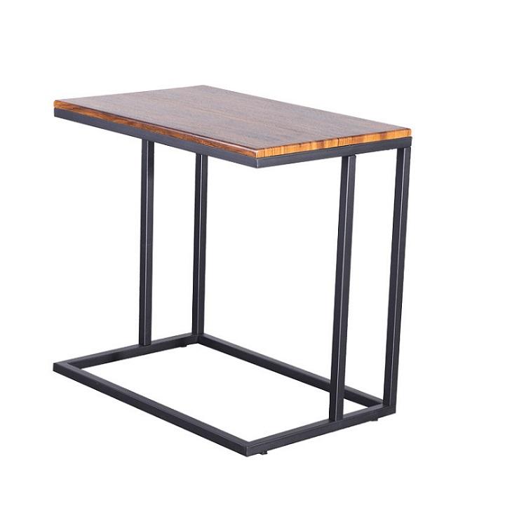 Kisasztal, diófa/fekete, EZEL