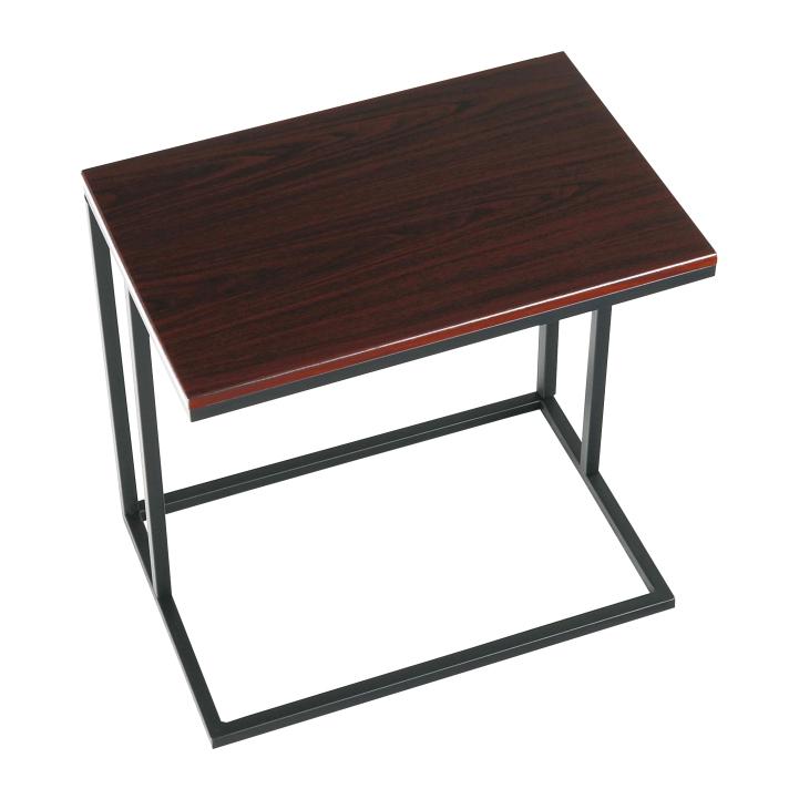 Príručný stolík, orech/čierna, EZEL