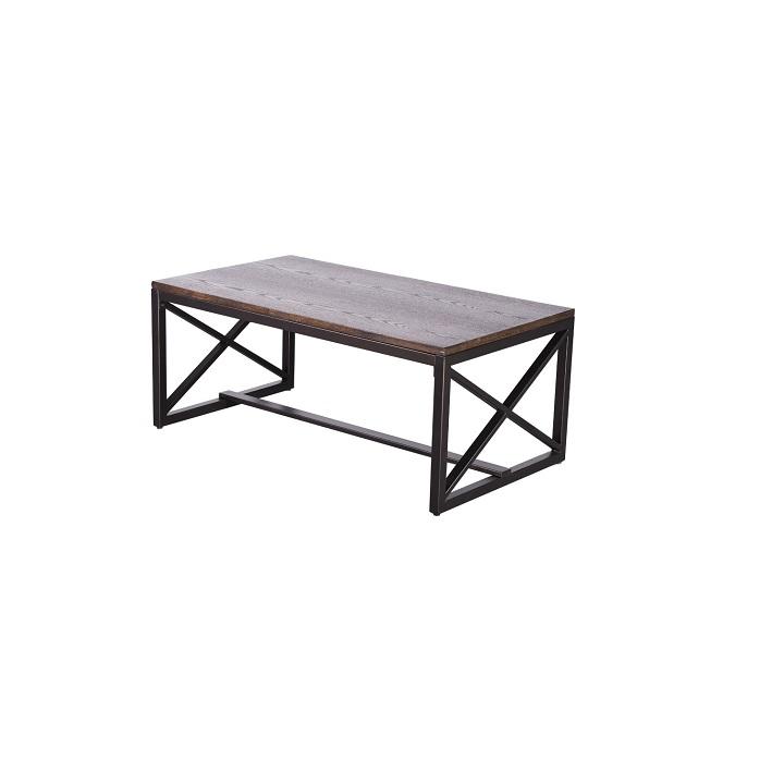 Dohányzóasztal, diófa/fekete, EBAN