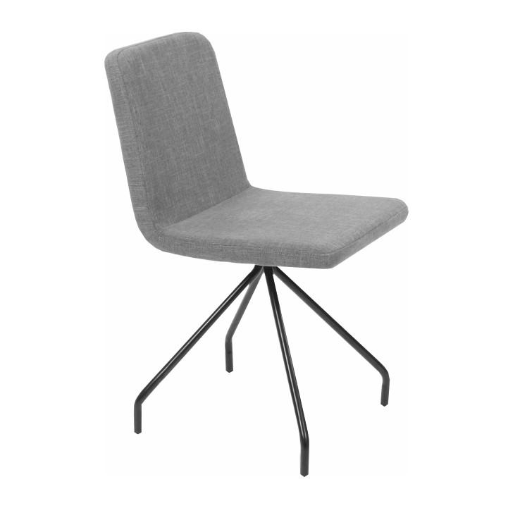 Jedálenská stolička, sivá/čierna, TALIP
