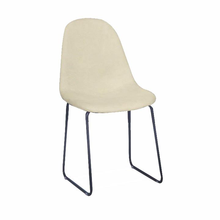 Jedálenská stolička, biela/čierna, ARUN