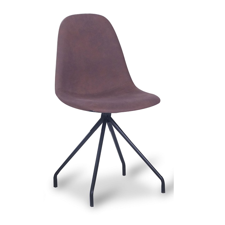 TEMPO KONDELA Jedálenská stolička, hnedá/čierna, BALRAM - Tempo nábytek