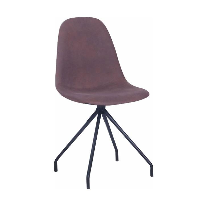 Jedálenská stolička, hnedá/čierna, BALRAM