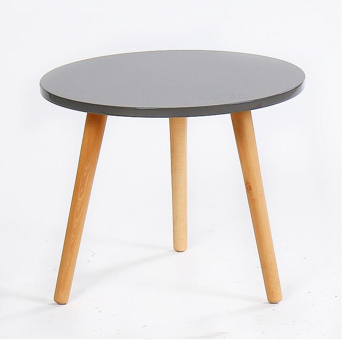 BAZZY 3 asztalka, szín: szürke / természetes fa