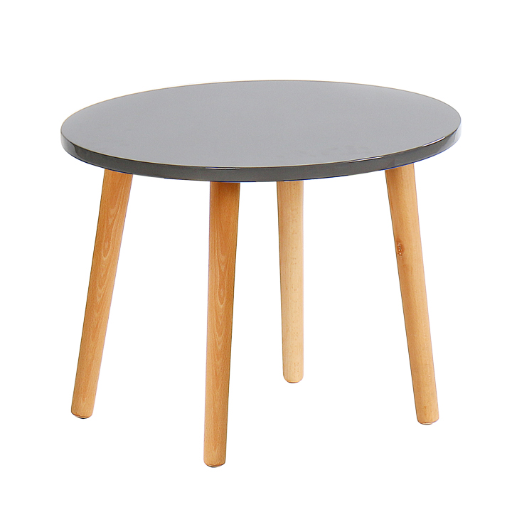 Príručný stolík, sivá/natural, BAZZY 3