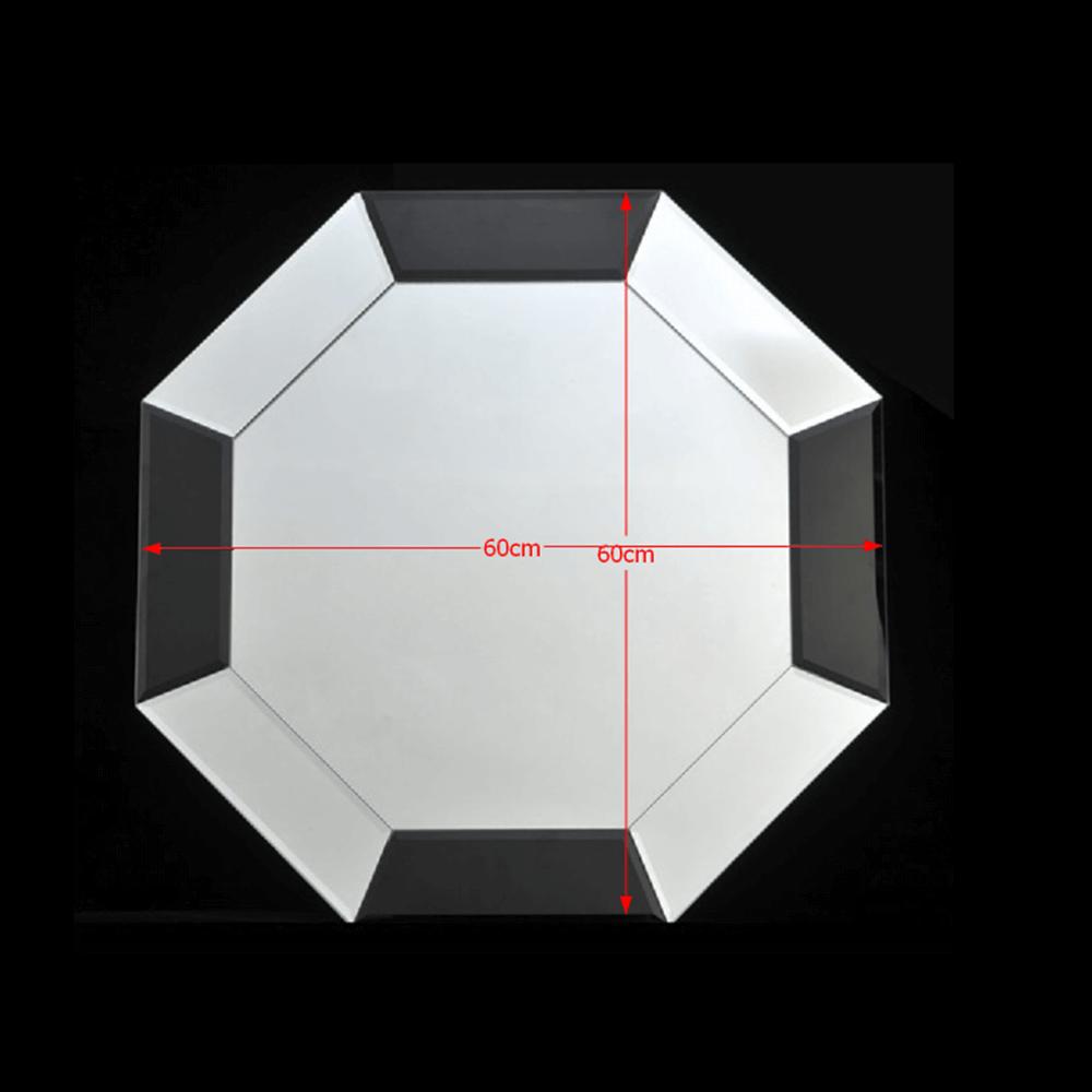 ELISON TYP 14 Stílusos  tükör  fekete/fehér kerettel