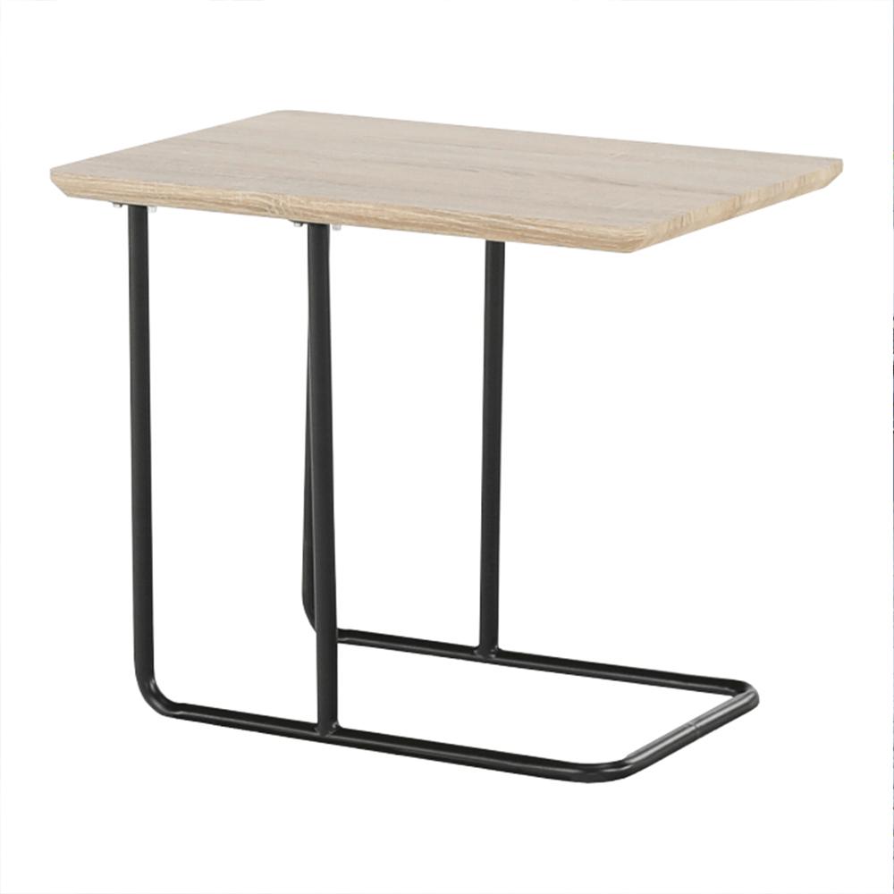 Príručný stolík, dub sonoma/čierna, CAMERO