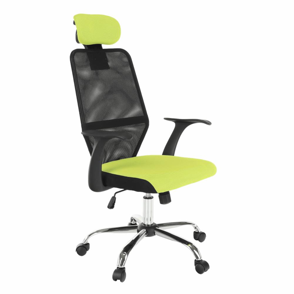 Irodai szék, fekete/zöld, REYES NEW