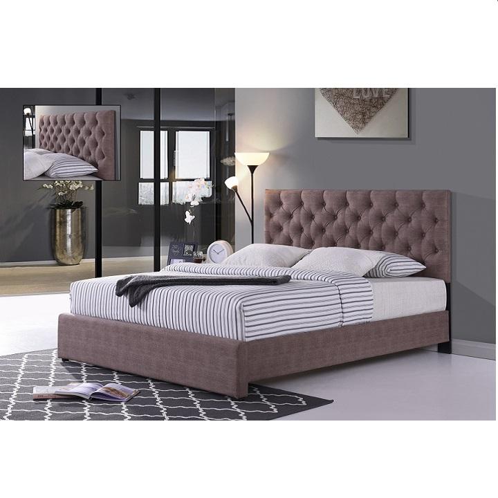 Manželská posteľ, hnedá, 160x200, CLOVER