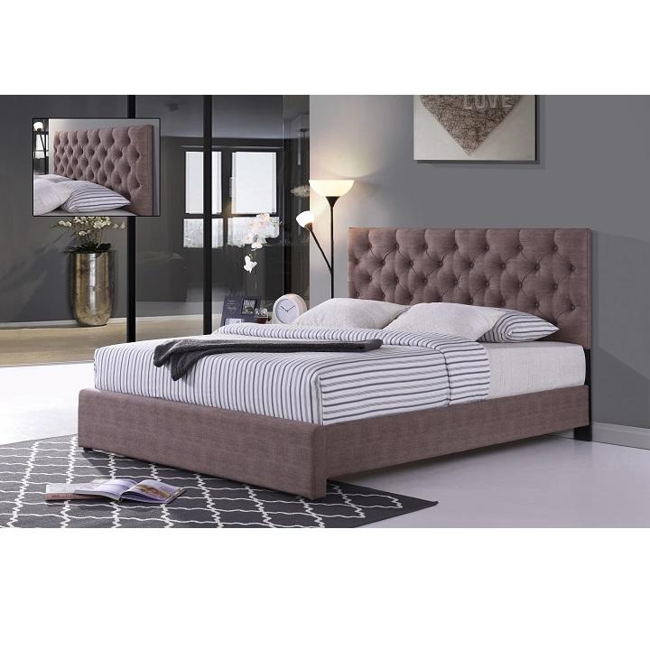Manželská posteľ, hnedá, 180x200, CLOVER