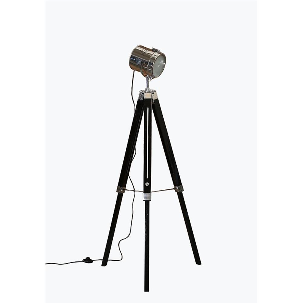 CINDA TYP 26, állólámpa háromlábú, króm / fekete