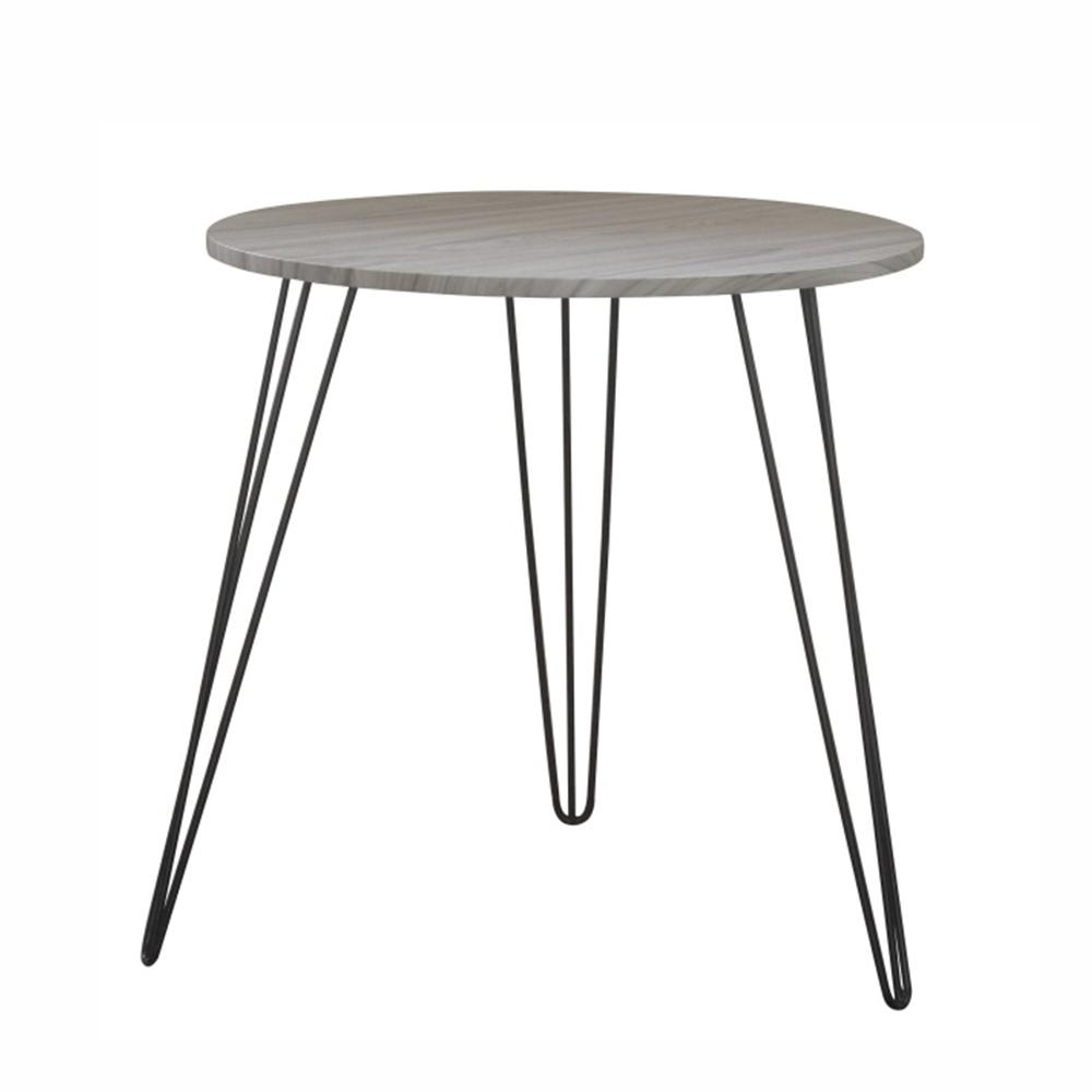 Příruční stolek, dub / černá, KALEB, TEMPO KONDELA