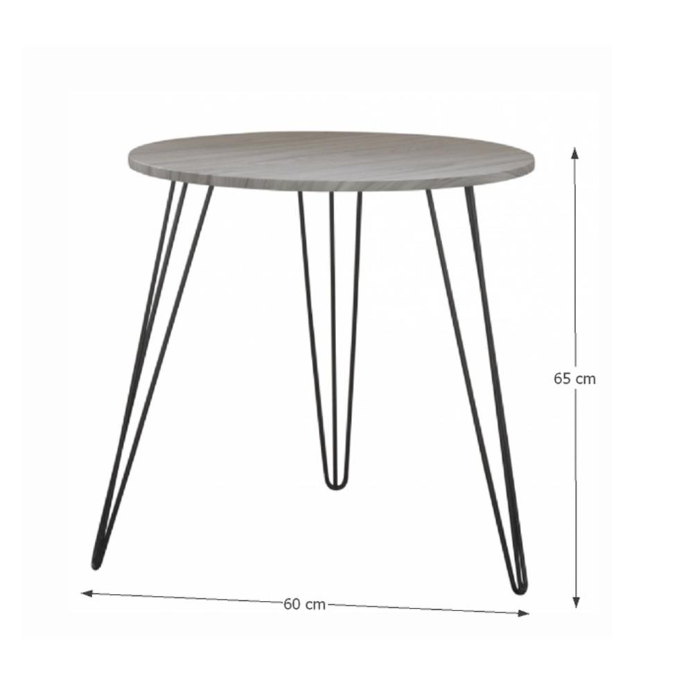 Kisasztal, tölgyfa / fekete, KALEB