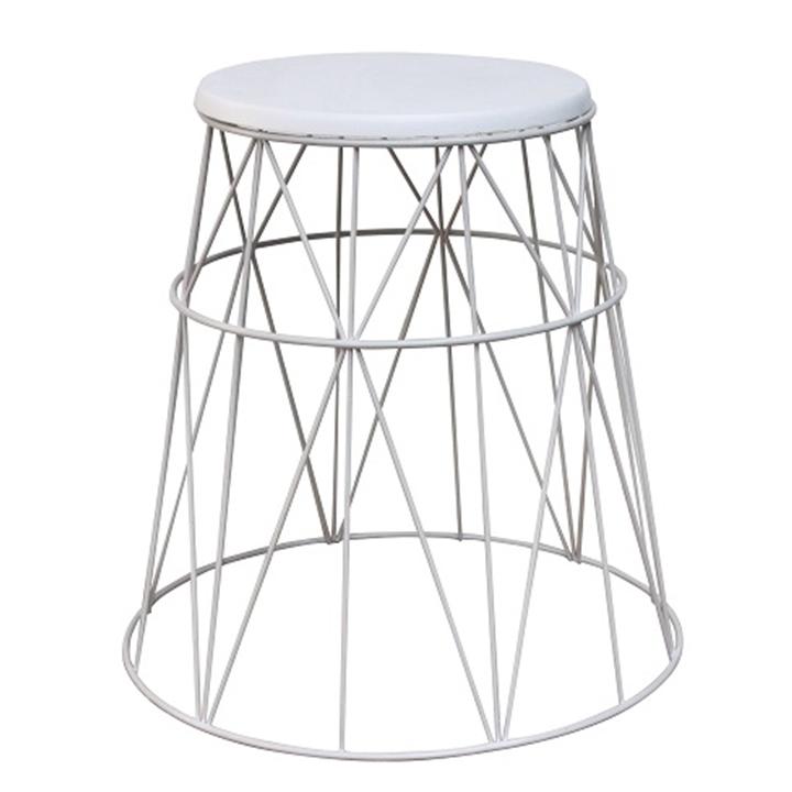 Příruční stolek, bílá, LAVON