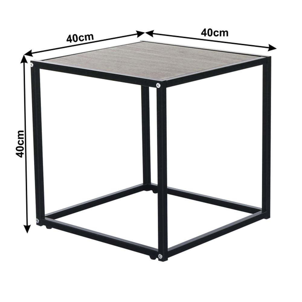 Kisasztal, tölgyfa / fekete, JAKIM TYP 1