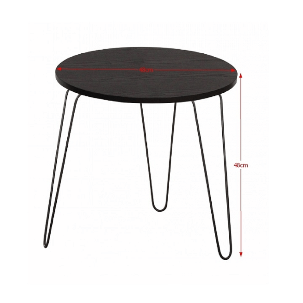 Kisasztal, fekete tölgyfa / fekete, RONIN