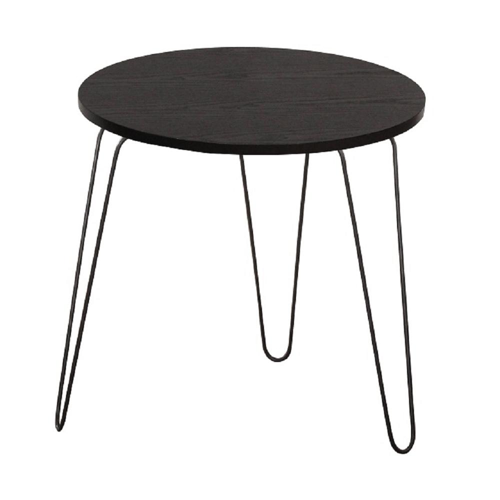 Príručný stolík, čierny dub/čierna, RONIN