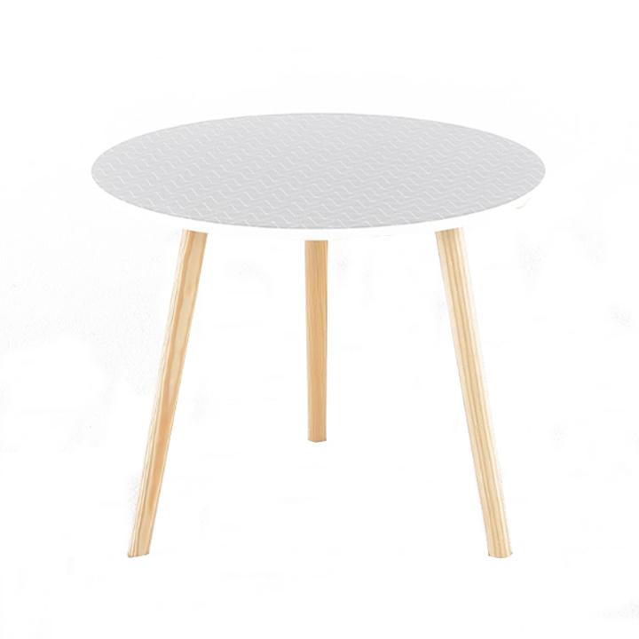 Příruční stolek, šedá/dřevo natural, HANSON