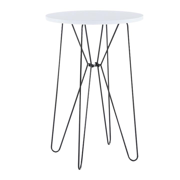 Príručný stolík, biela/čierne nohy, RUBEN