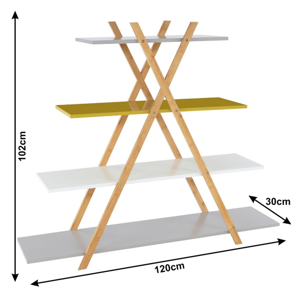 Állvány, többszínű/bambusz, JENSEN BBP-43