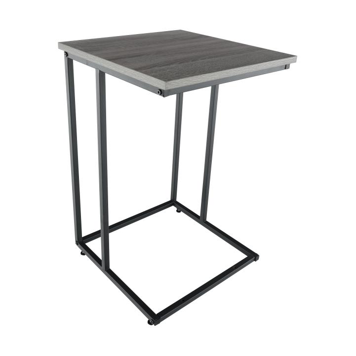 Príručný stolík, dub/čierna, KALA
