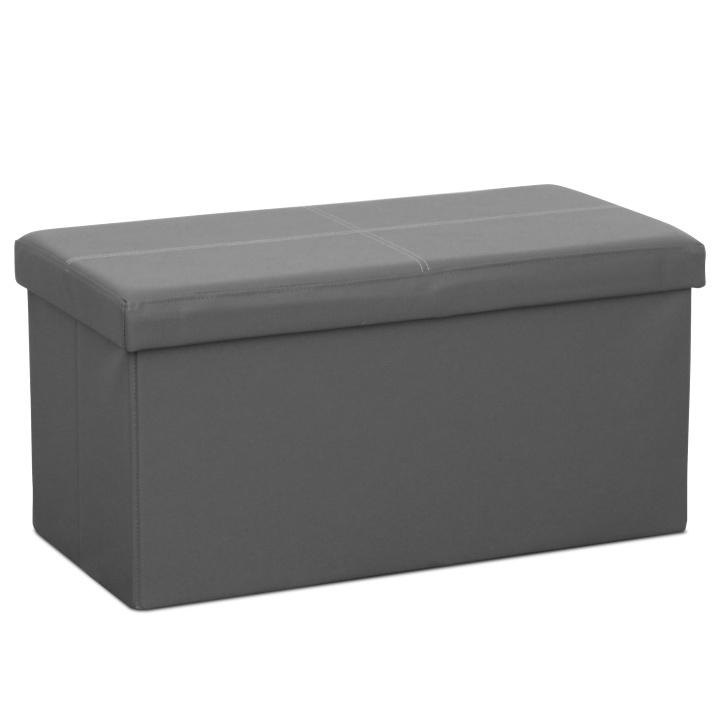 Skladací taburet, sivá ekokoža, IMRA