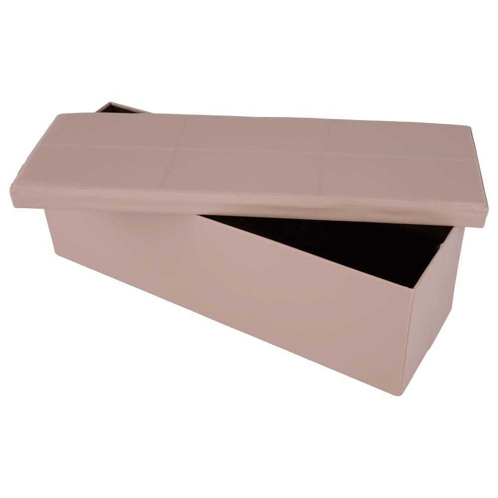 ZAMIRA összecsukható puff rakodási felülettel 114x38x38 cm