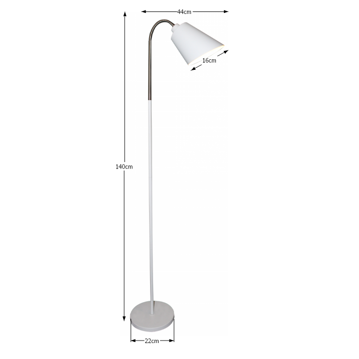 Állólámpa, fehér, JADE Typ 1 8200