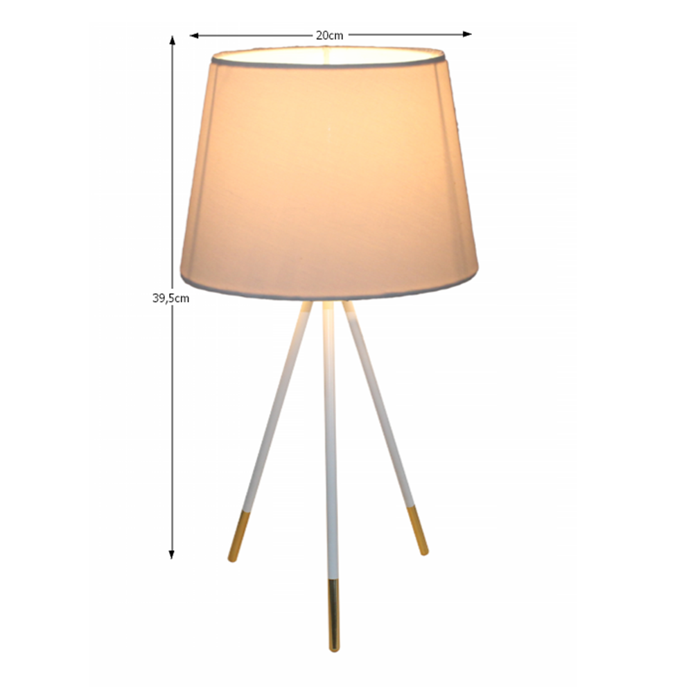 JADE TYP 5 asztali lámpa, fehér
