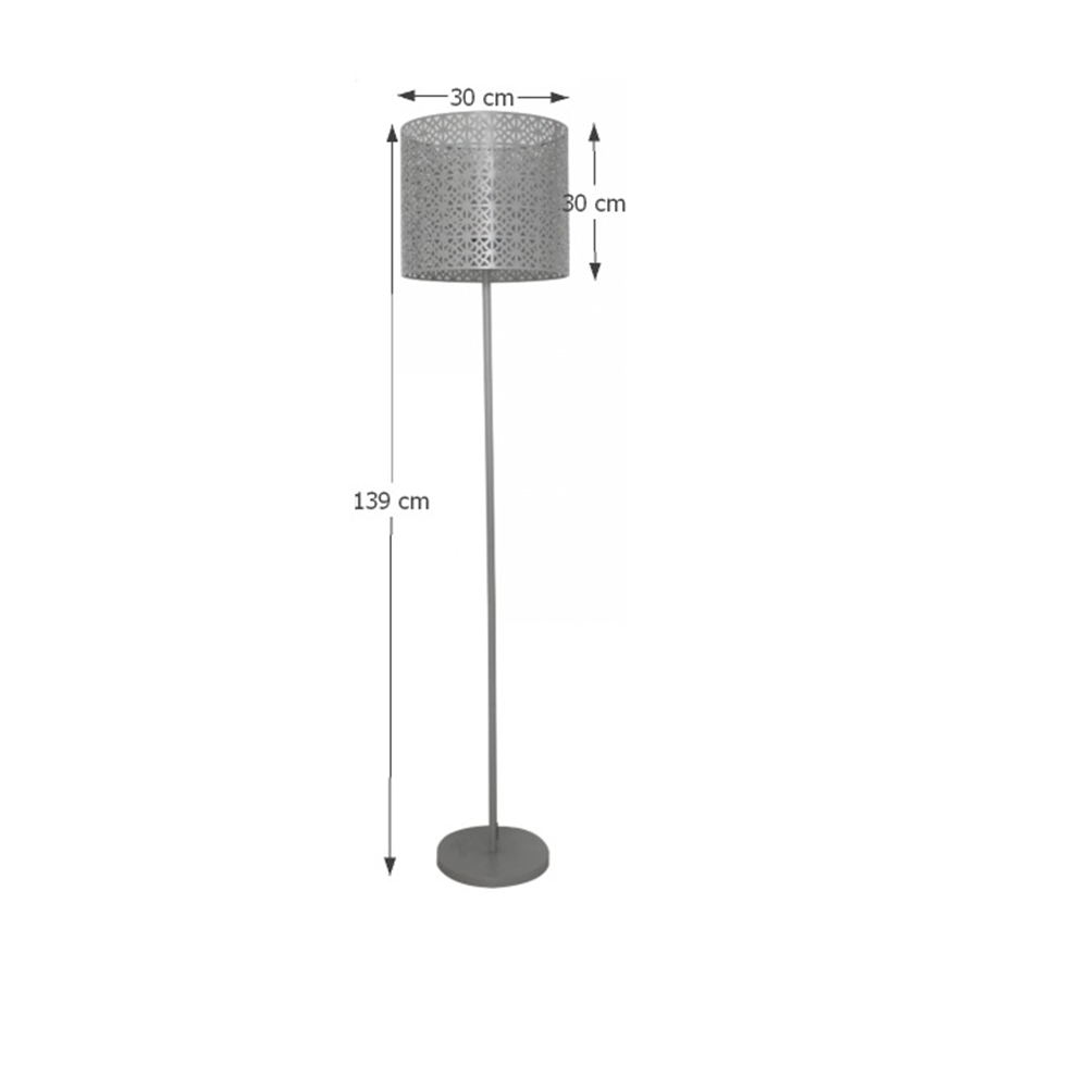 JADE TYP 9  állólámpa, szürke