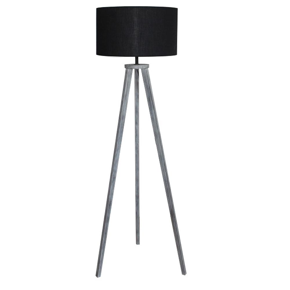 Stojací lampa, černá/šedá, JADE TYP 10, TEMPO KONDELA