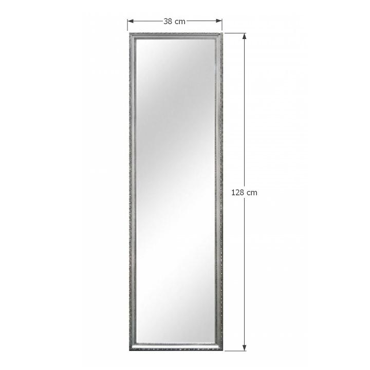 TEMPO KONDELA Zrkadlo, strieborný drevený rám, MALKIA TYP 3 - Tempo nábytek