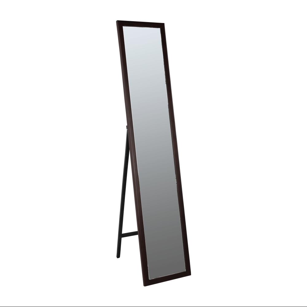 Zrcadlo, dřevěný rám hnědé barvy, Malkia TYP 4, TEMPO KONDELA