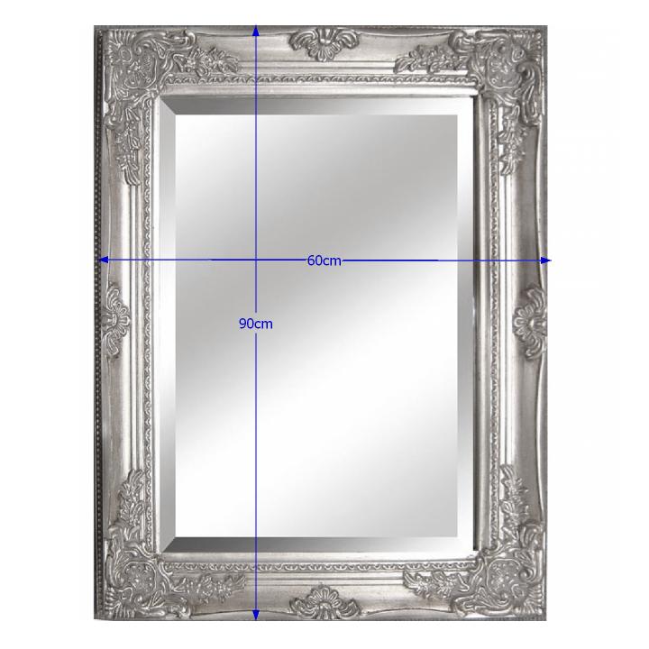 TEMPO KONDELA Zrkadlo, strieborný drevený rám, MALKIA TYP 6 - Tempo nábytek